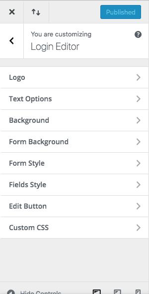 Custom Login Page Editor